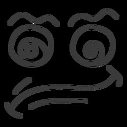 Dizzy emoticon face cartoon