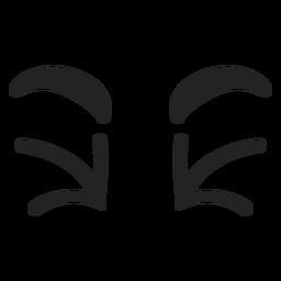 Doodle emoticon ojos