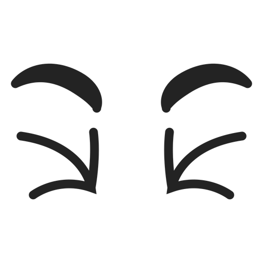 Doodle emoticon ojos Transparent PNG