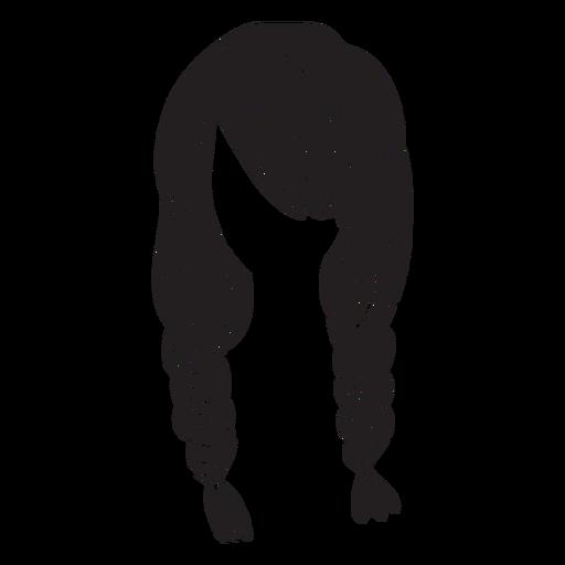 Ícone de cabelo tranças duplas Transparent PNG