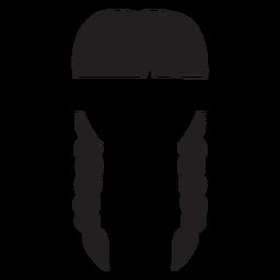 Trenzas dobles silueta del cabello.