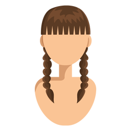Double braids hair woman avatar