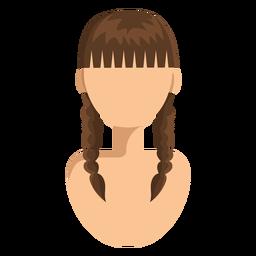 Dupla tranças cabelo mulher avatar