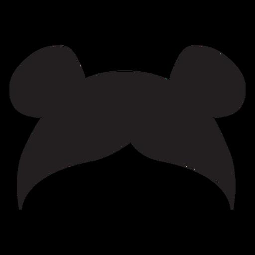 Double buns hair silhouette Transparent PNG