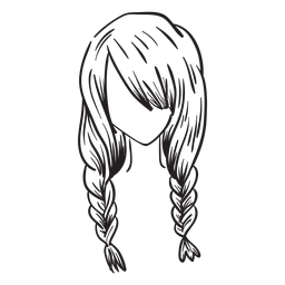 Mão de cabelo duplo tranças francês desenhada