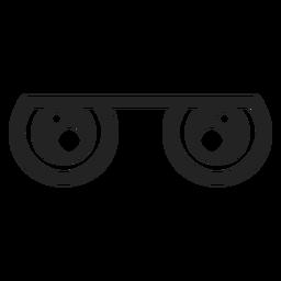 Ojos de emoticon kawaii apagados