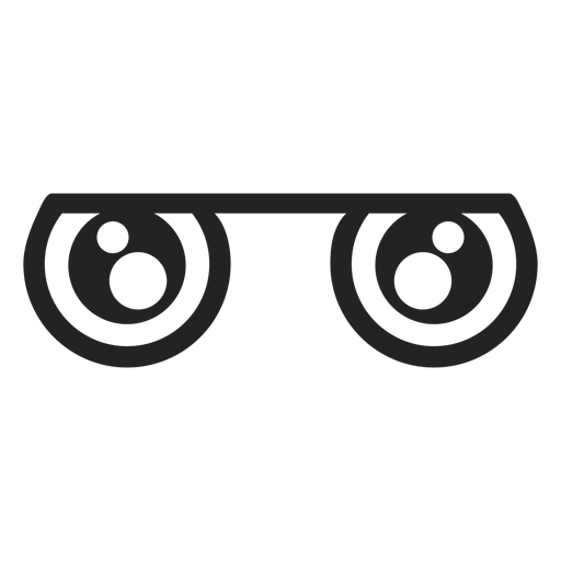 Ojos de emoticonos Kawaii opacos Transparent PNG