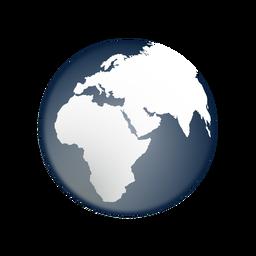 Tierra áfrica asia europa icono