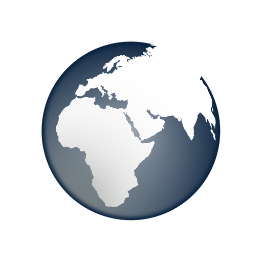 Earth africa asia europe icon Transparent PNG