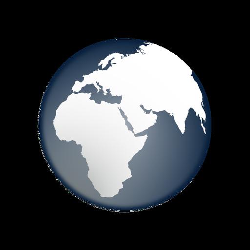 Erde Afrika Asien Europa Ikone Transparent PNG