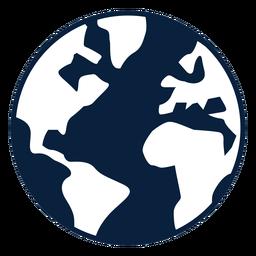 Erde-Schwarzweiß-Symbol