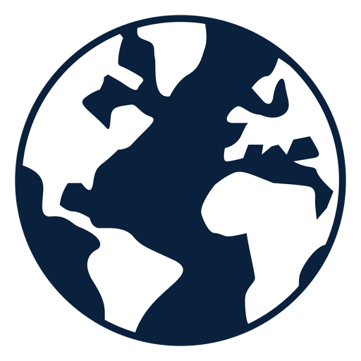 Earth black and white icon Transparent PNG
