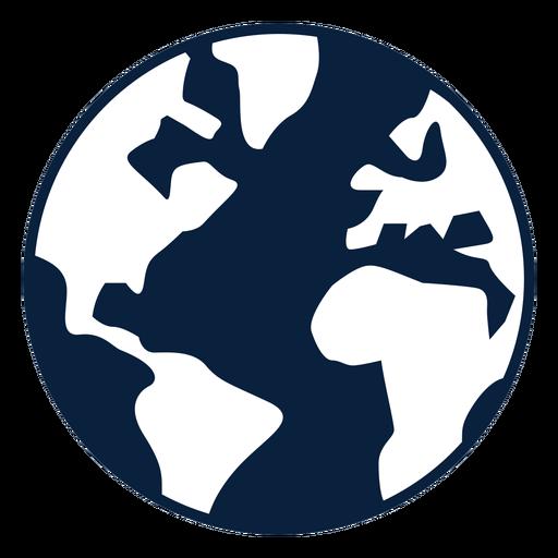 Icono de tierra blanco y negro Transparent PNG