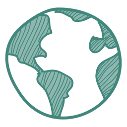 Earth doodle icon
