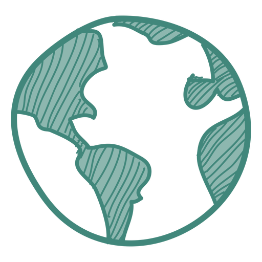 Earth doodle icon Transparent PNG