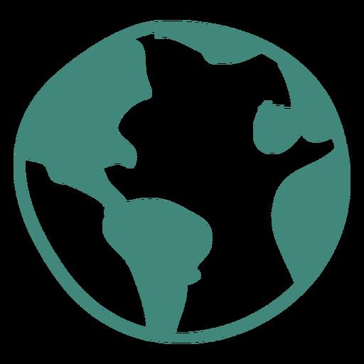 Icono de la tierra del doodle Transparent PNG