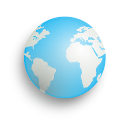 Earth drop shadow icon