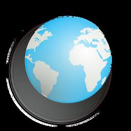 Erde-Schlagschatten-Symbol