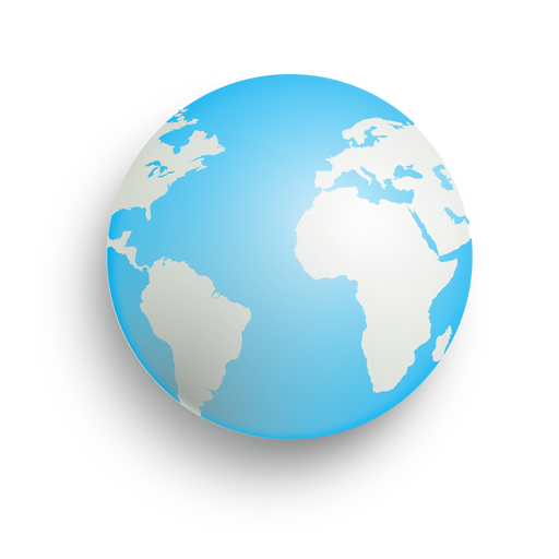 Earth drop shadow icon