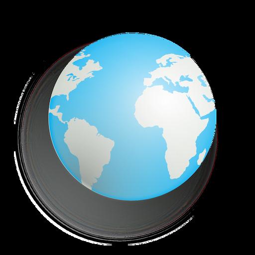 Terra, sombra gota, ícone Transparent PNG