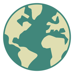 Ícone plana do globo da terra