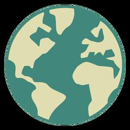 Icono plano del globo terráqueo
