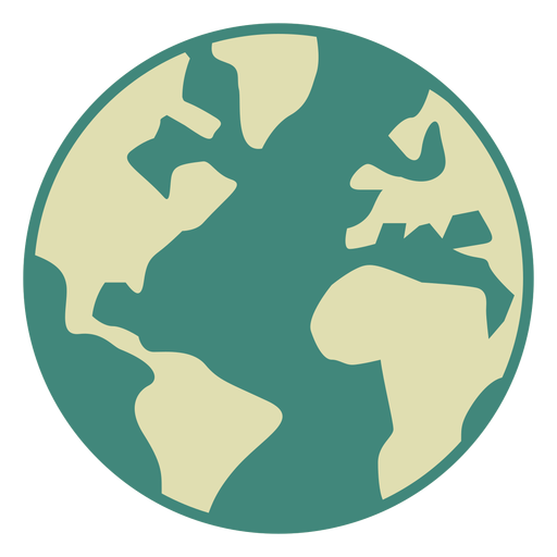 Ícone plana do globo da terra Transparent PNG