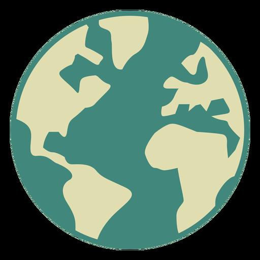 Erde Globus flach Symbol Transparent PNG