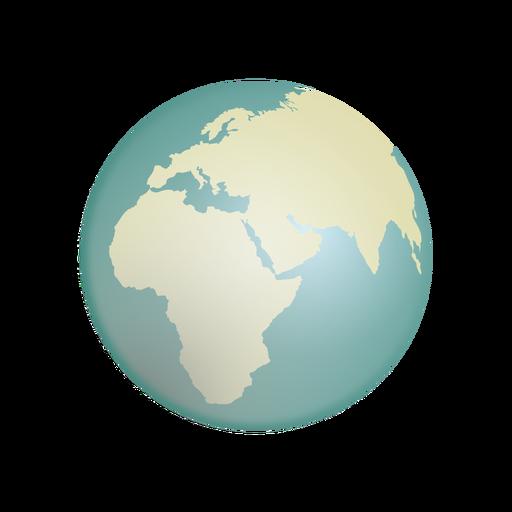 Ícone do globo da terra Transparent PNG