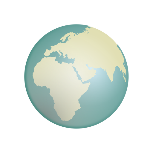 Earth globe icon Transparent PNG