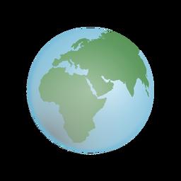 Ilustración de globo terráqueo