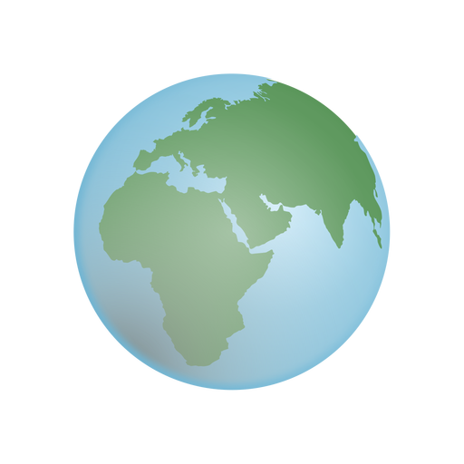 Ilustración de globo terráqueo Transparent PNG
