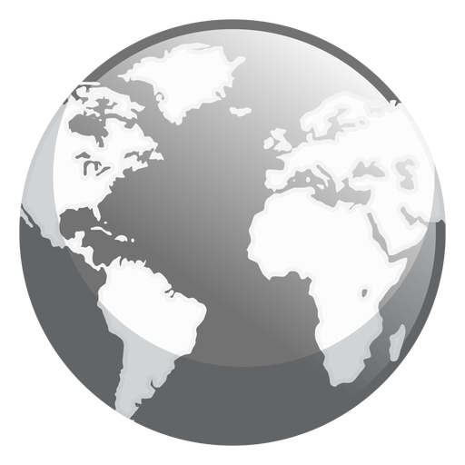 Earth glossy icon Transparent PNG