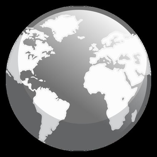 Erde glänzend Symbol Transparent PNG
