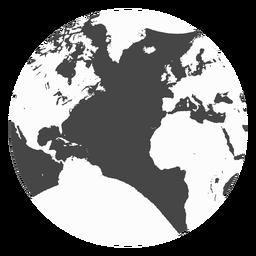 Erde-Grunge-Ikone
