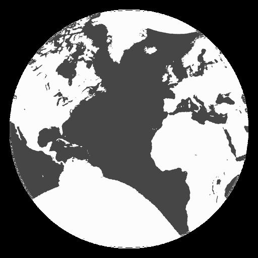Erde-Grunge-Ikone Transparent PNG