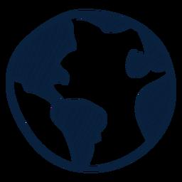 Icono dibujado de la mano de la tierra