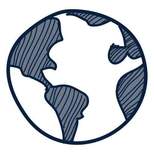 Earth hand drawn icon Transparent PNG
