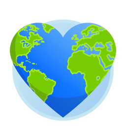 Erde Herzsymbol