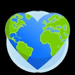 Icono del corazón de la tierra