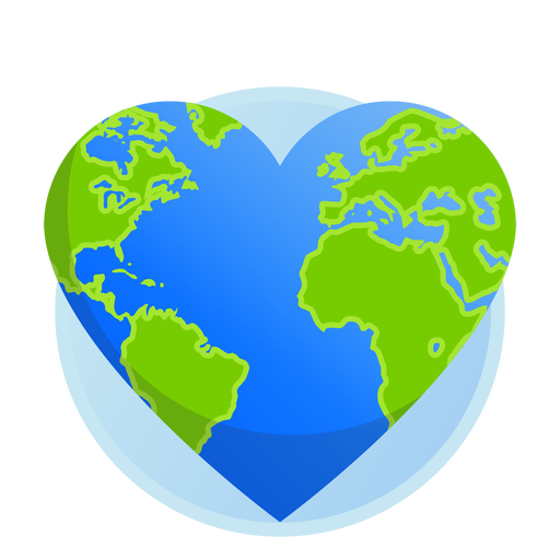 Earth heart icon Transparent PNG