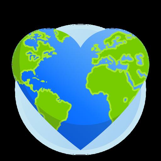 Icono del corazón de la tierra Transparent PNG