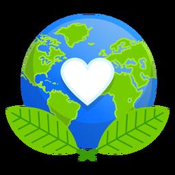 Ícone do amor da natureza da terra