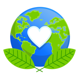 Icono de amor de la naturaleza de la tierra