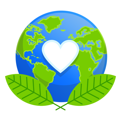 Ícone do amor da natureza da terra Transparent PNG