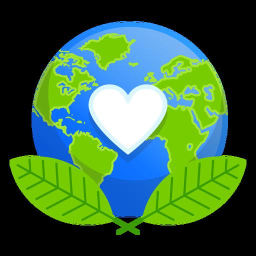 Earth nature love icon