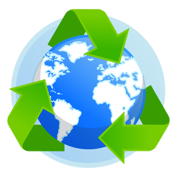 Earth recycle icon
