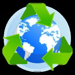Icono de reciclaje de la tierra