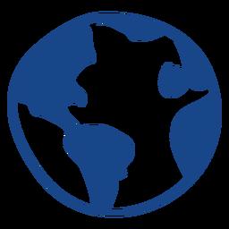 Icono de garabato de la tierra