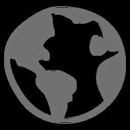 Icono de bosquejo de la tierra